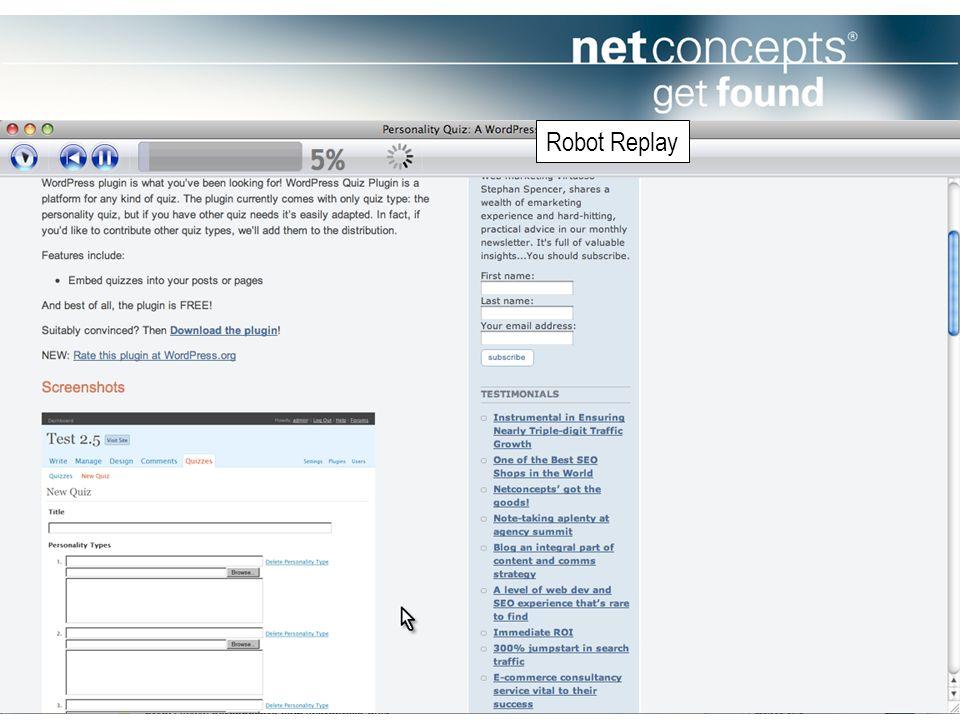 Robot Replay