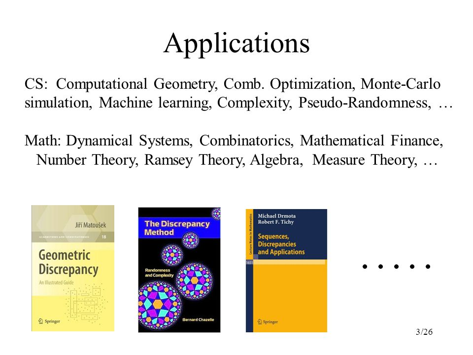 3/26 Applications CS: Computational Geometry, Comb.