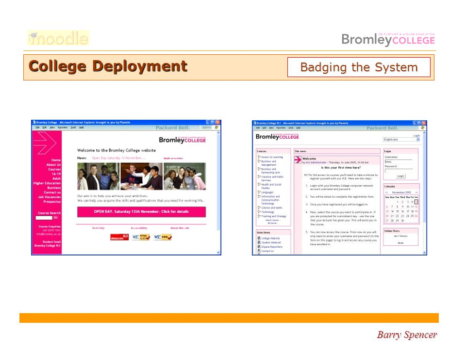 Barry Spencer College Deployment Badging the System