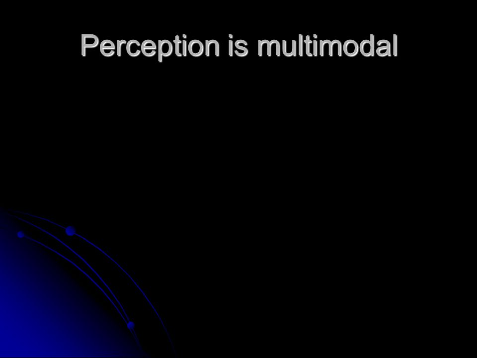 Perception is multimodal