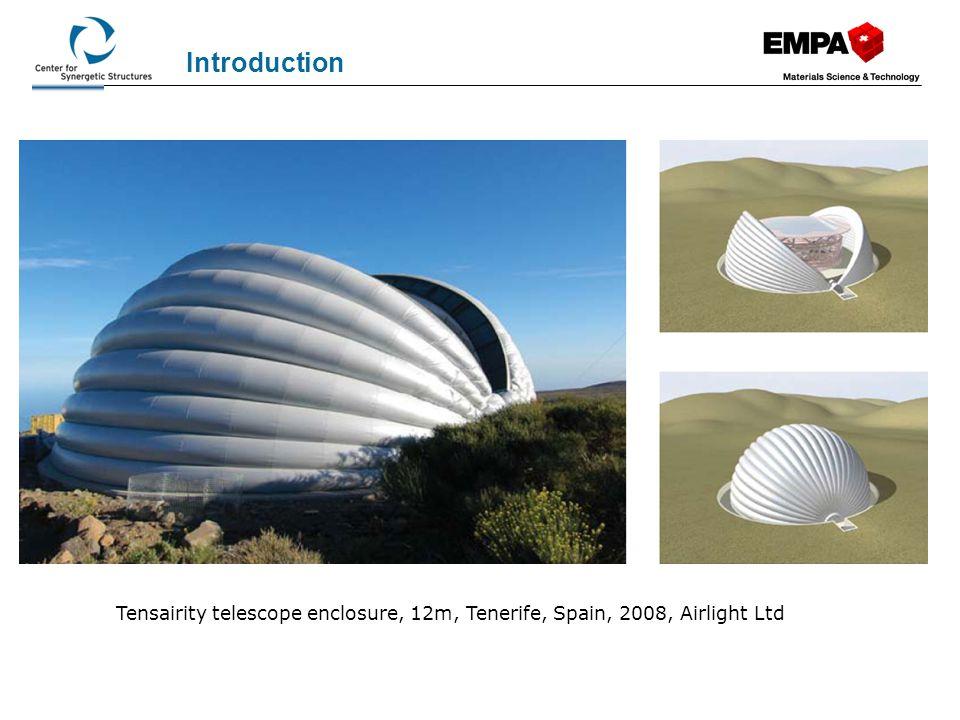 Introduction Tensairity roof 38 m, National Tennis Center, London, 2010, Airlight Ltd