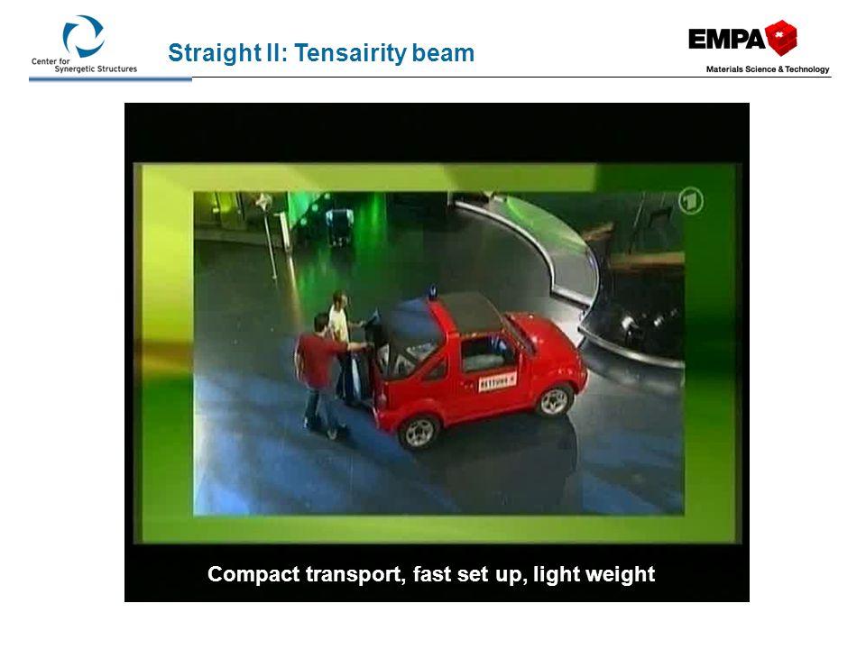 High load bearing capacity Straight II: Tensairity beam