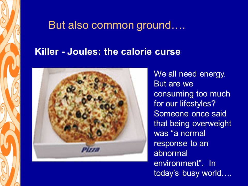But also common ground…. We all need energy. But are we consuming too much for our lifestyles.