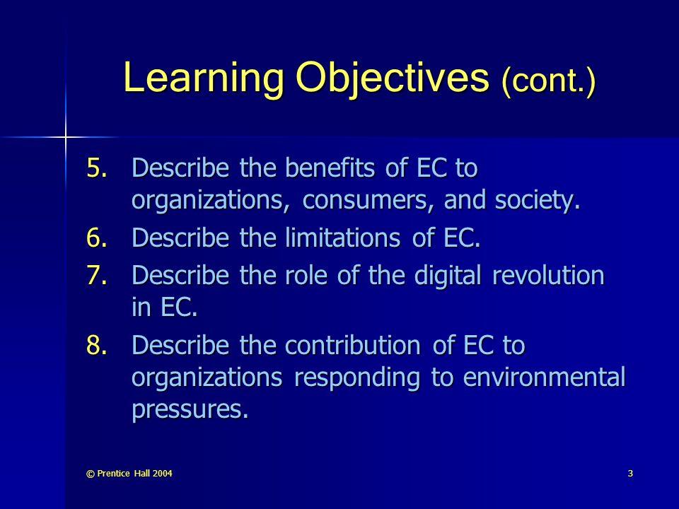 © Prentice Hall 200454 Limitations of EC