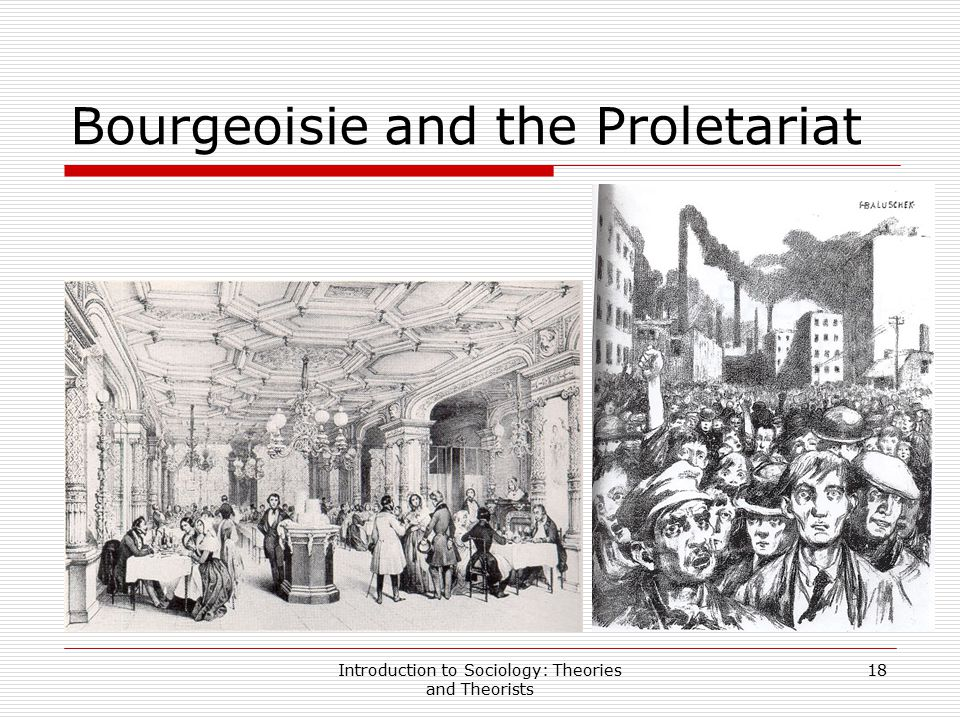 Introduction to Sociology: Theories and Theorists 18 Bourgeoisie and the Proletariat