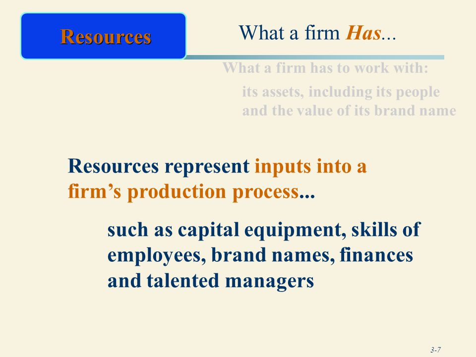 3-18 Primary Activities Associated with transforming inputs into the final product form Efficient plant operations Appropriate level of automation in manufacturing Quality production control systems Efficient plant layout and workflow design Inbound Logistics Operations Adapted from Exhibit 3.2 The Value Chain: Some Factors to Consider in Assessing a Firm's Primary Activities