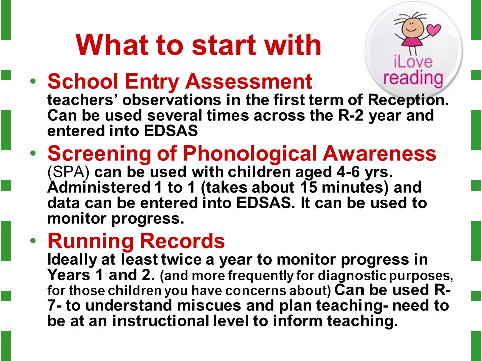 What to start with School Entry Assessment teachers' observations in the first term of Reception. Can be used several times across the R-2 year and en