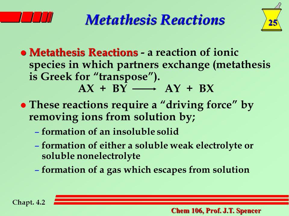 25 Chem 106, Prof. J.T.