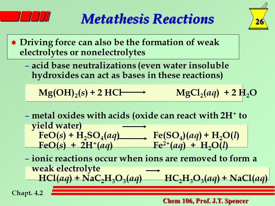 26 Chem 106, Prof. J.T.
