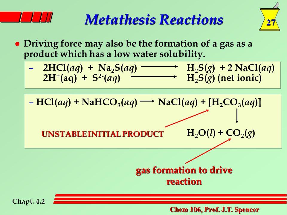 27 Chem 106, Prof. J.T.