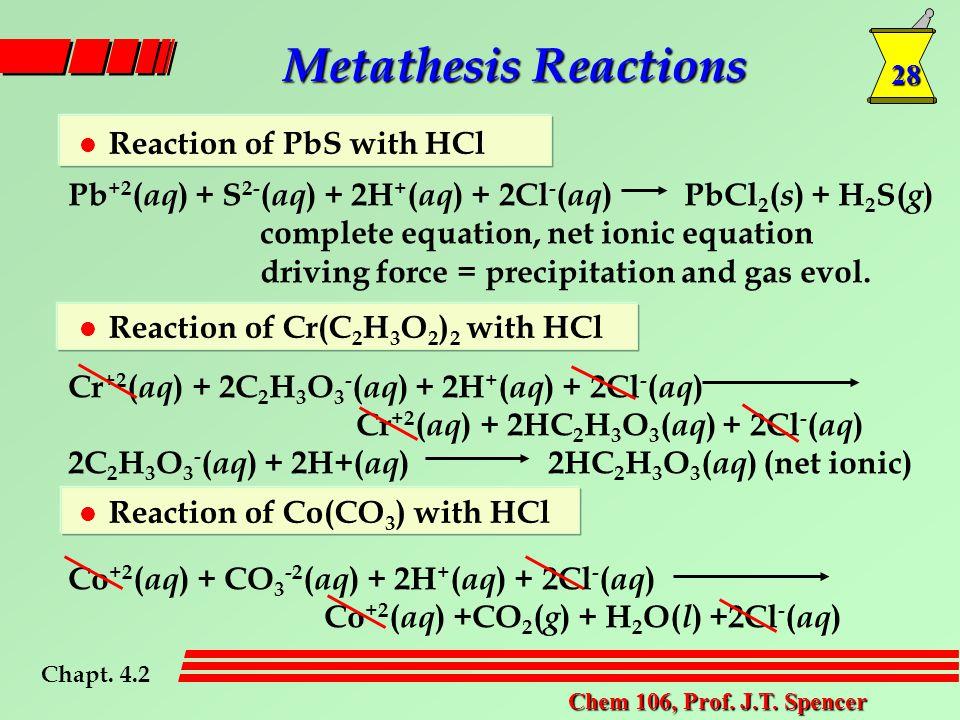 28 Chem 106, Prof. J.T.