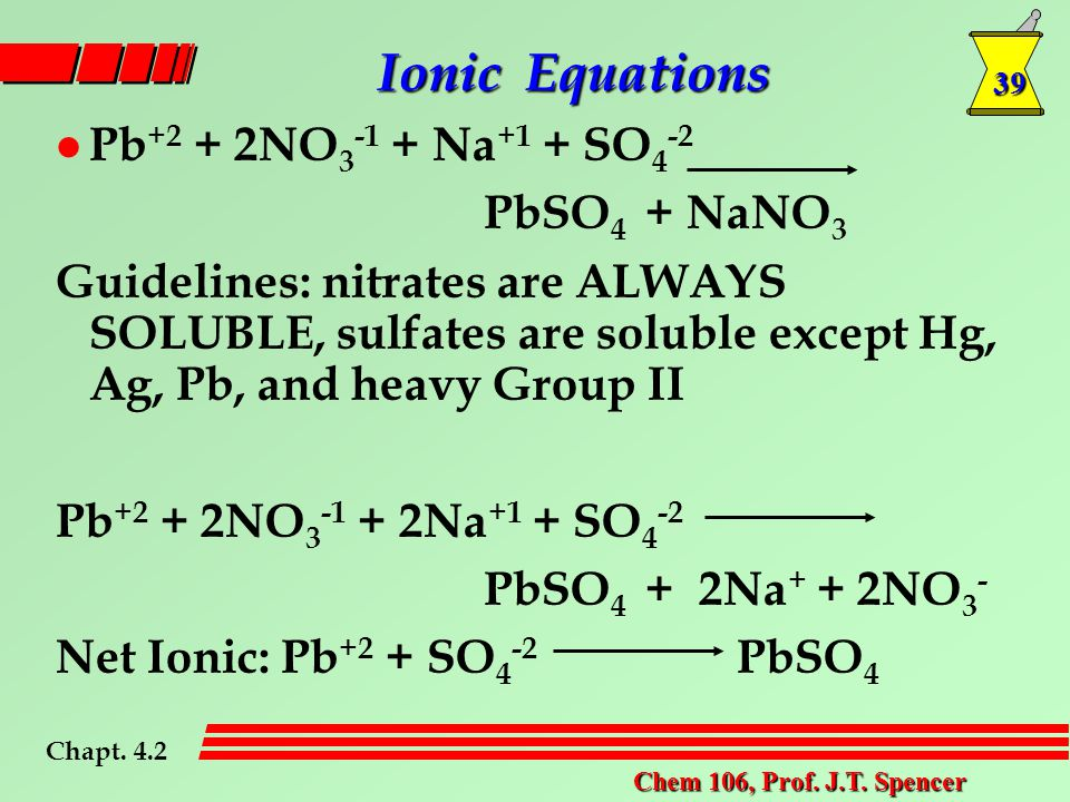 39 Chem 106, Prof. J.T.