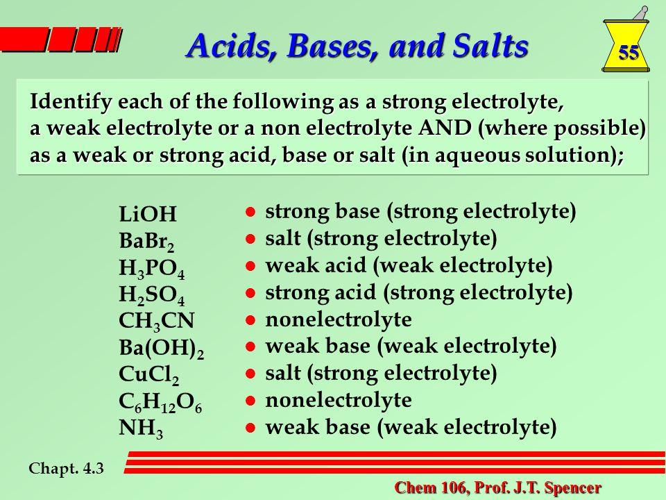 55 Chem 106, Prof. J.T.