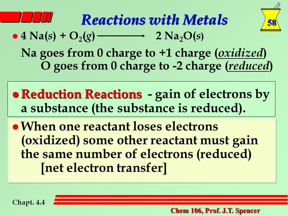 58 Chem 106, Prof. J.T.