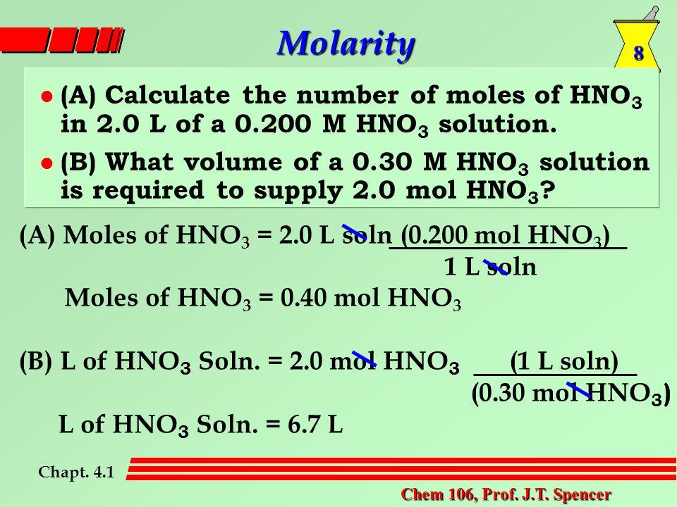 8 Chem 106, Prof. J.T.