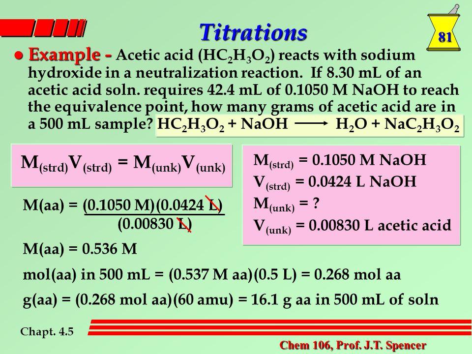 81 Chem 106, Prof. J.T.