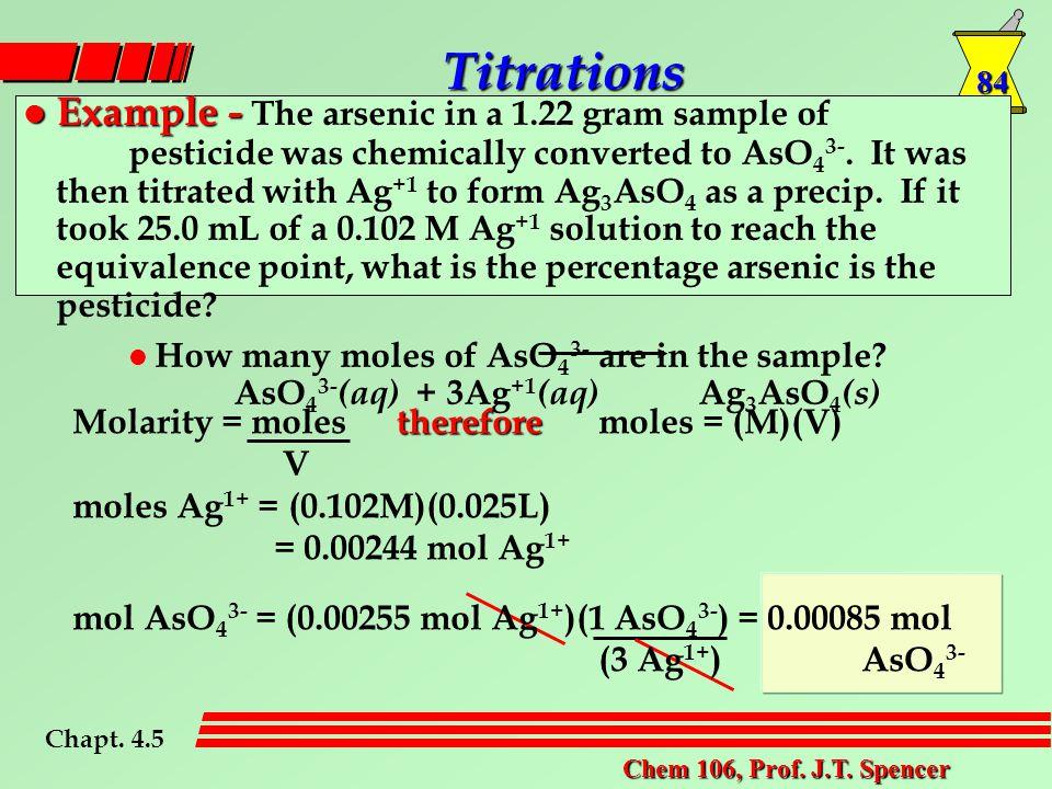 84 Chem 106, Prof. J.T.