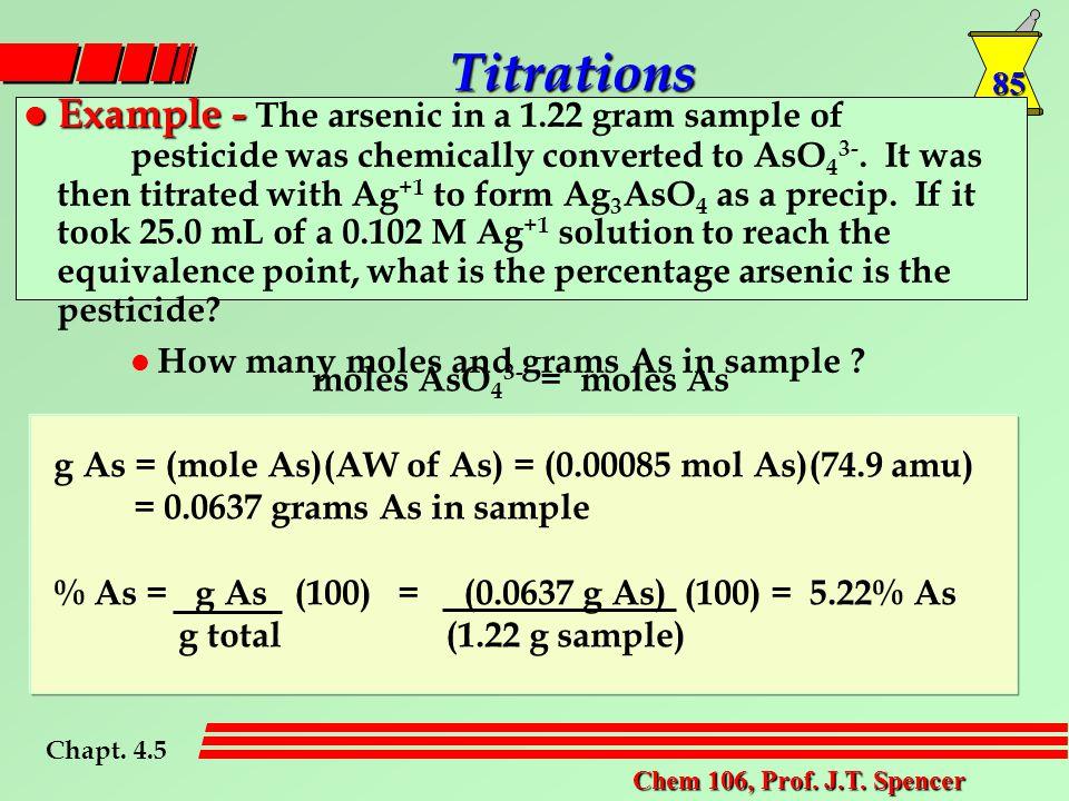 85 Chem 106, Prof. J.T.
