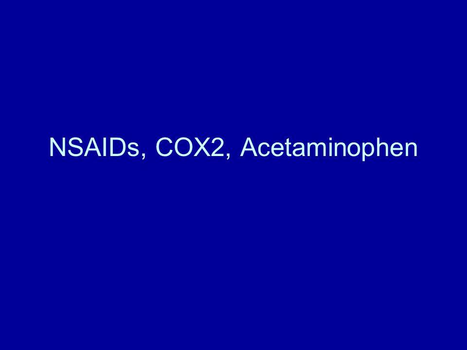 NSAIDs, COX2, Acetaminophen