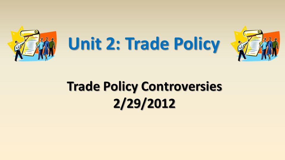 Activist Trade Policy An activist trade policy usually means export subsidies or general subsidies to exporting industries.