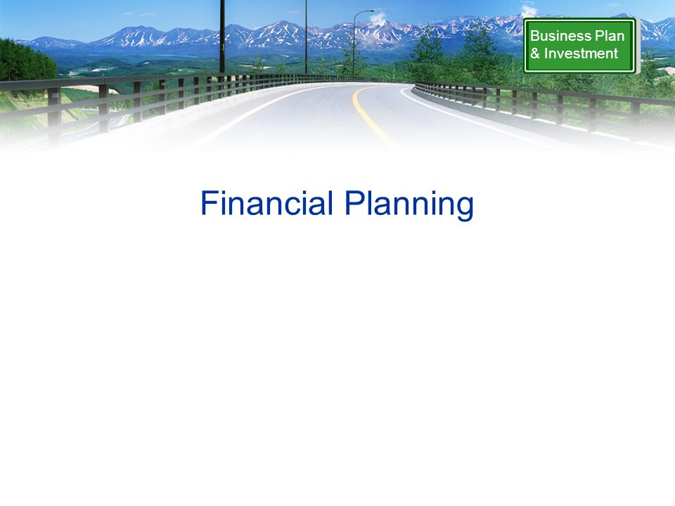 Financial Planning Business Plan & Investment