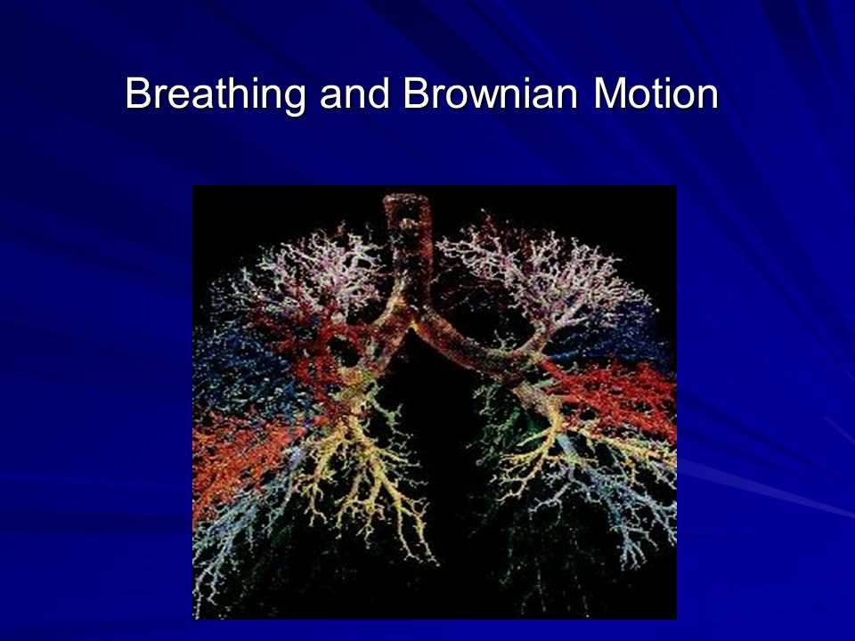 Breathing and Brownian Motion Breathing and Brownian Motion
