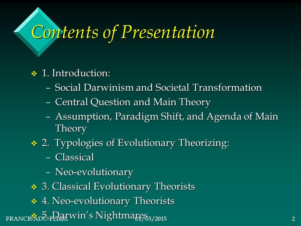 FRANCIS ADU-FEBIRI01/05/20152 Contents of Presentation v 1.