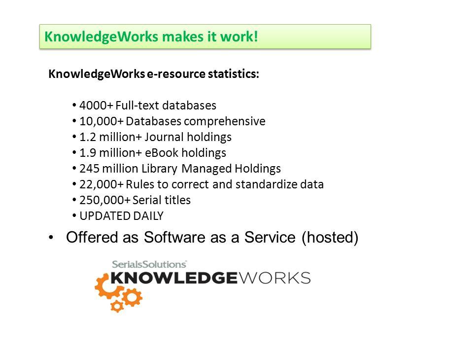 KnowledgeWorks makes it work.