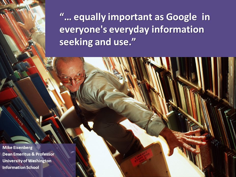 I have seen the future of how libraries will provide access to information, resources, and collections.