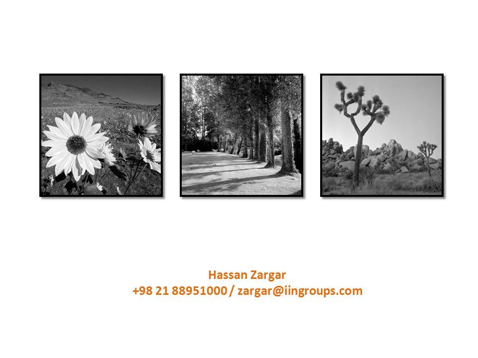 Hassan Zargar +98 21 88951000 / zargar@iingroups.com