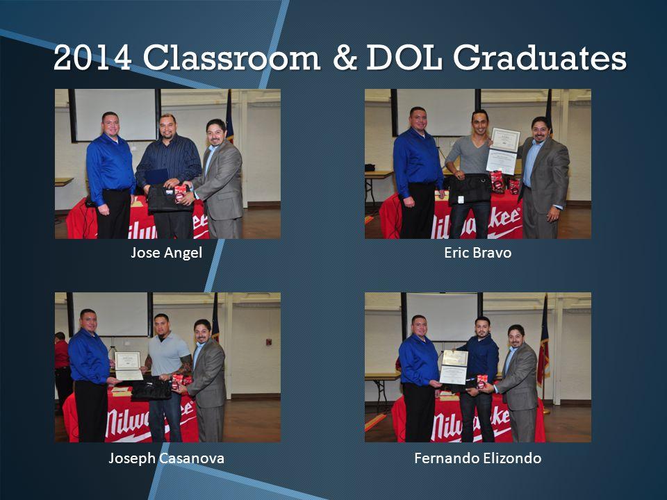 2014 Classroom & DOL Graduates Jose AngelEric Bravo Joseph Casanova Fernando Elizondo