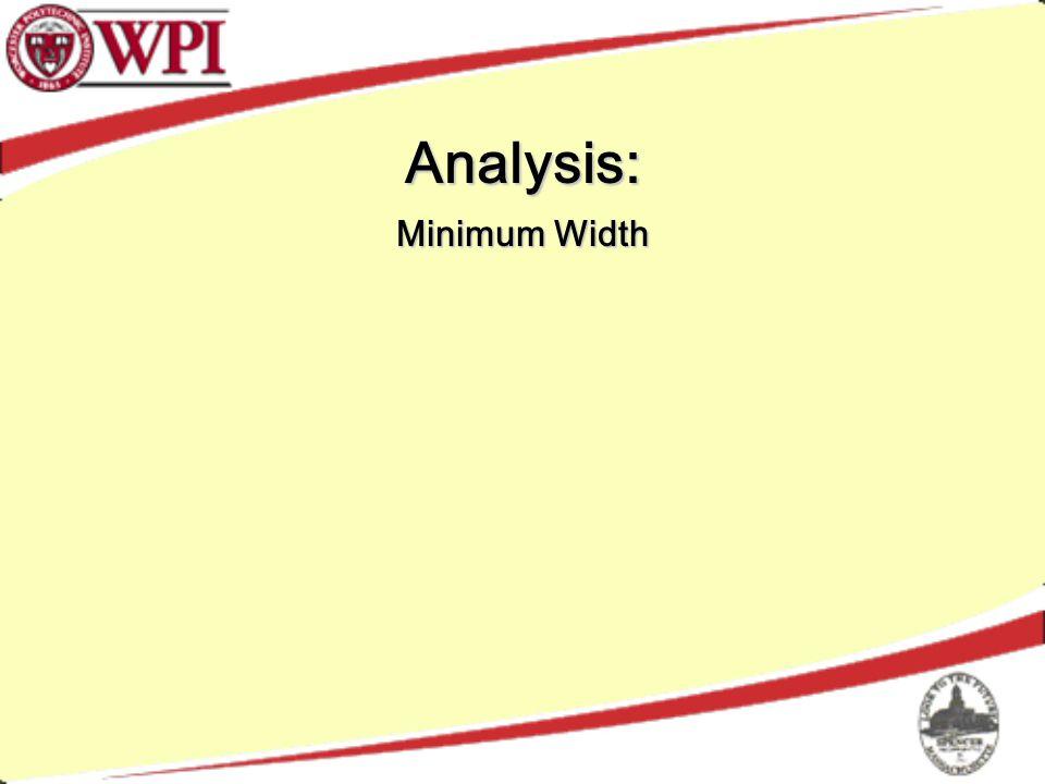 Analysis: Minimum Width