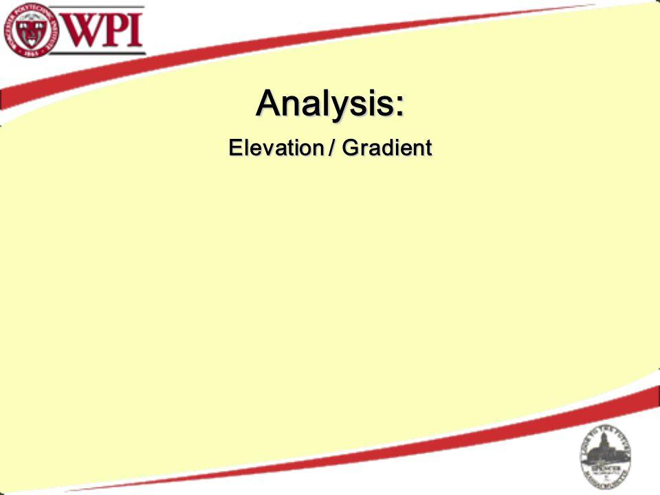 Analysis: Elevation / Gradient