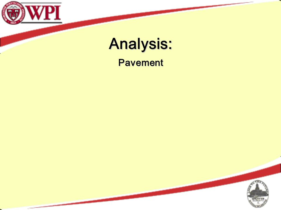 Analysis: Pavement