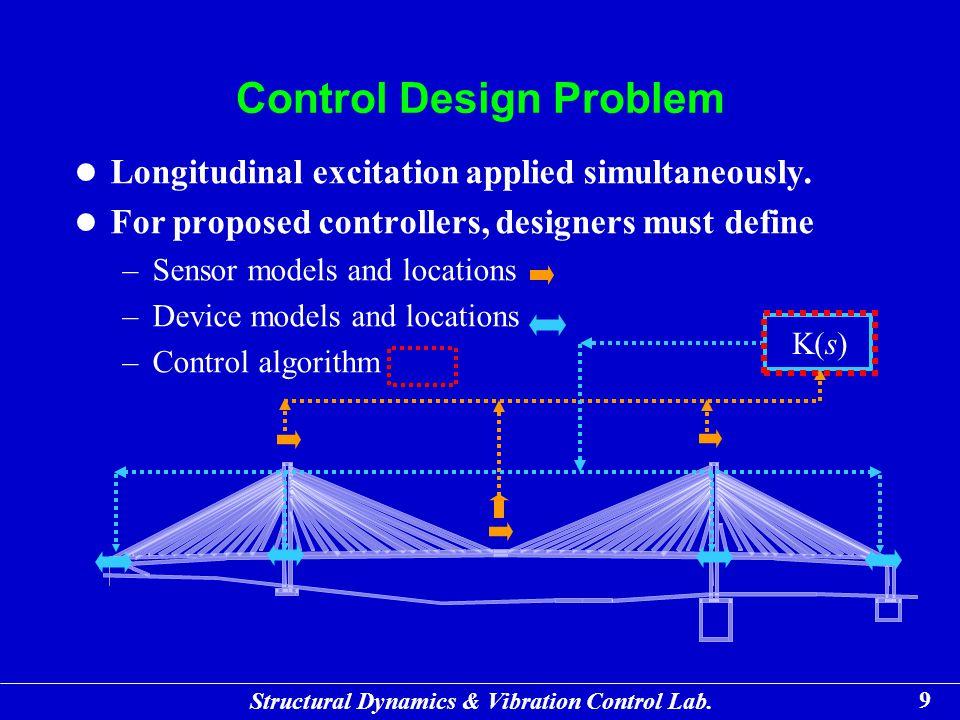 Structural Dynamics & Vibration Control Lab. 30 Maximum Evaluation Criteria (Peak Responses)