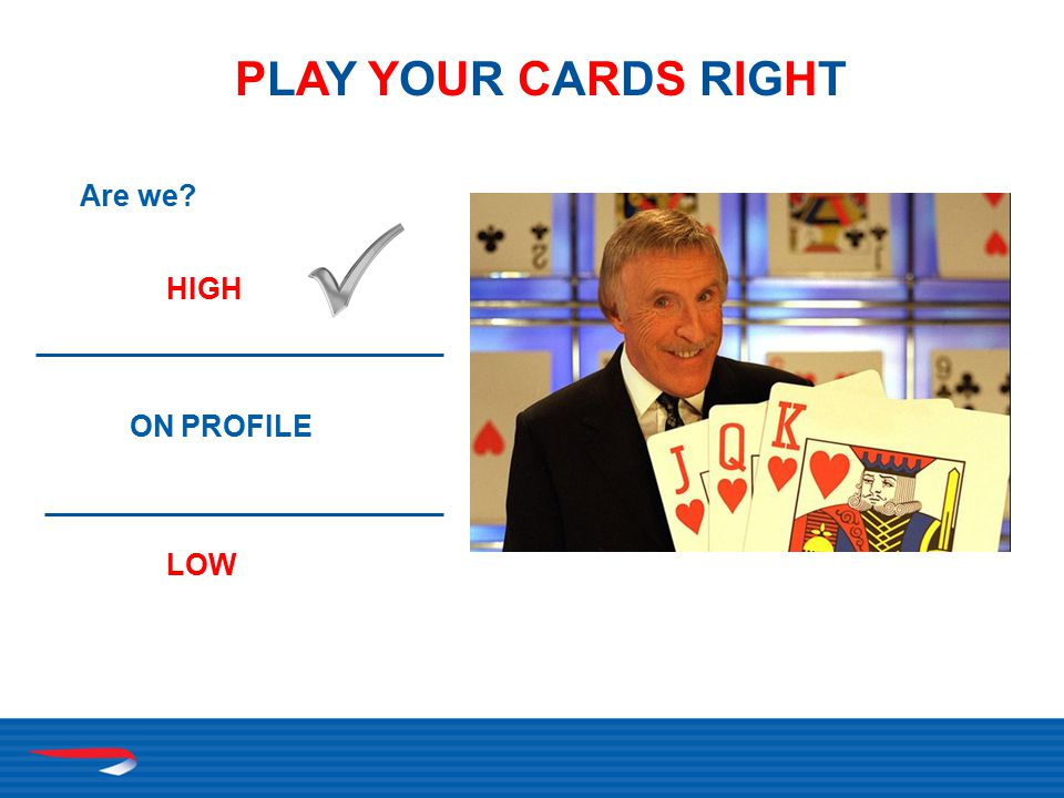 PLAY YOUR CARDS RIGHTPLAY YOUR CARDS RIGHT