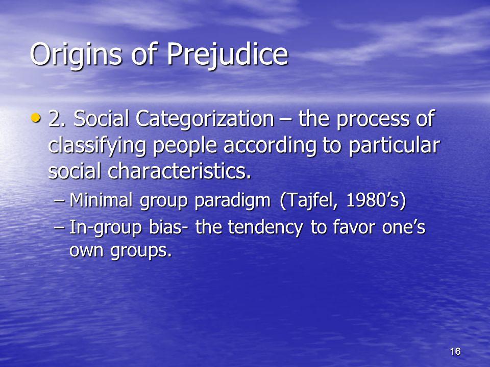16 Origins of Prejudice 2.