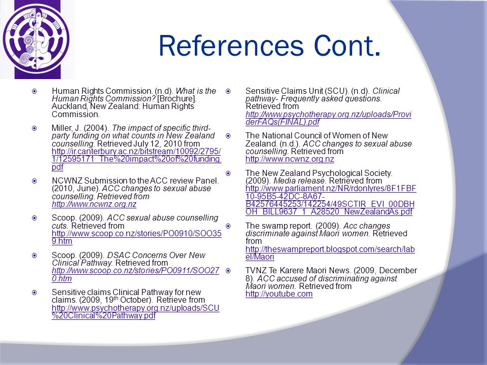 References Cont.  Human Rights Commission. (n.d).
