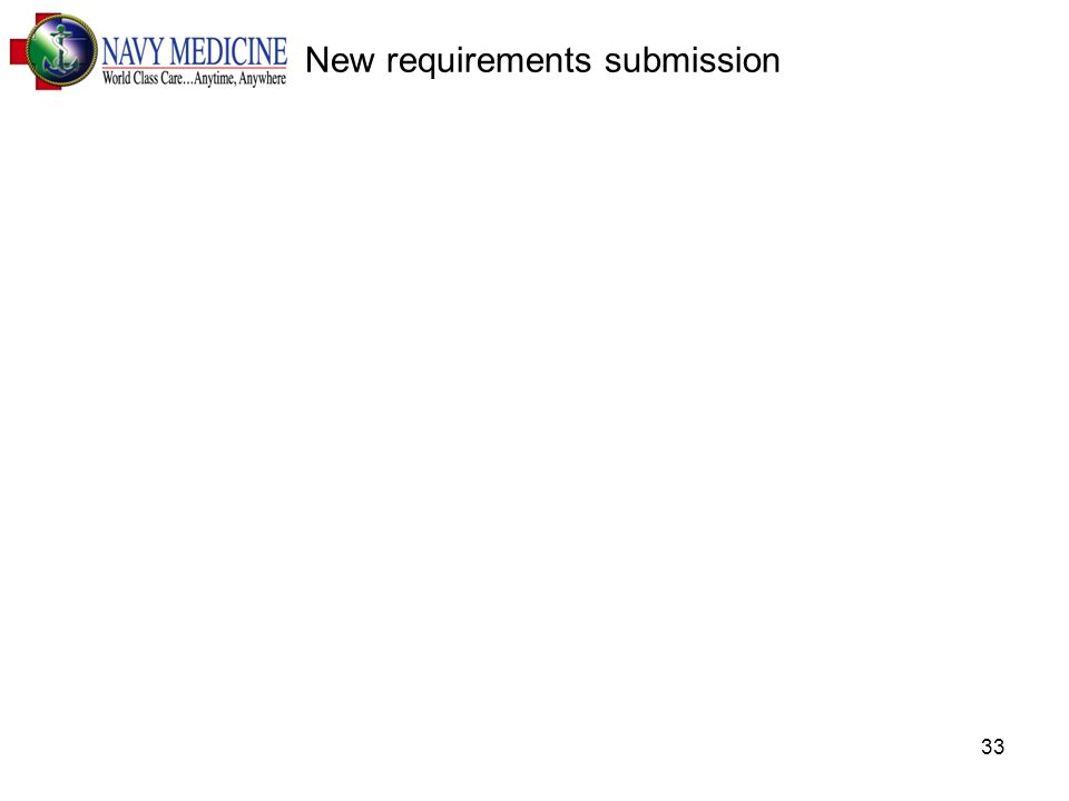 33 New requirements submission