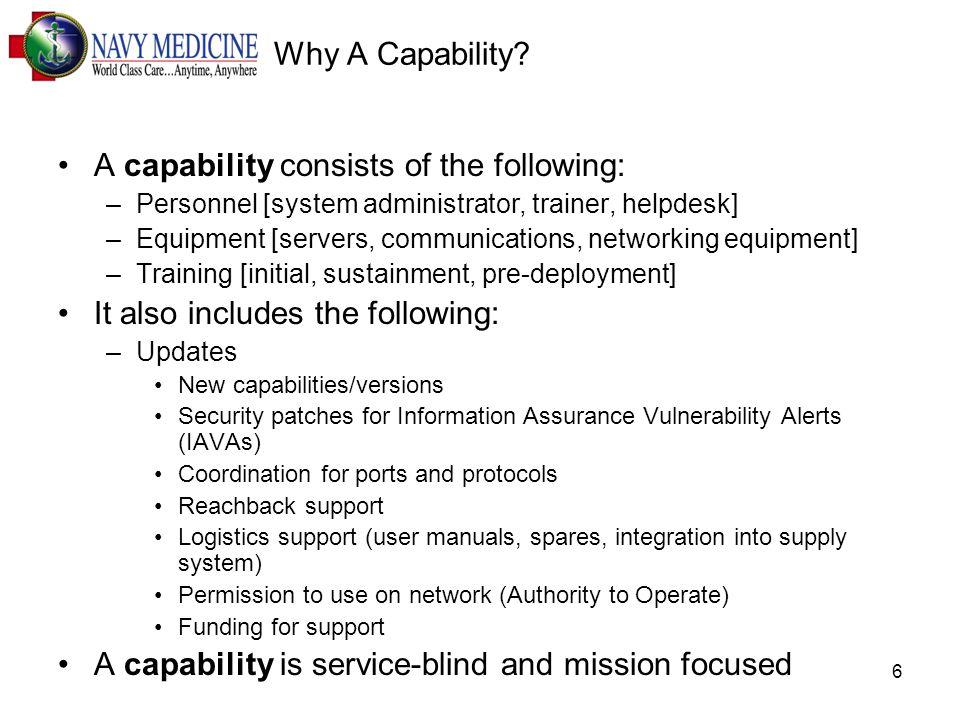 6 Why A Capability.