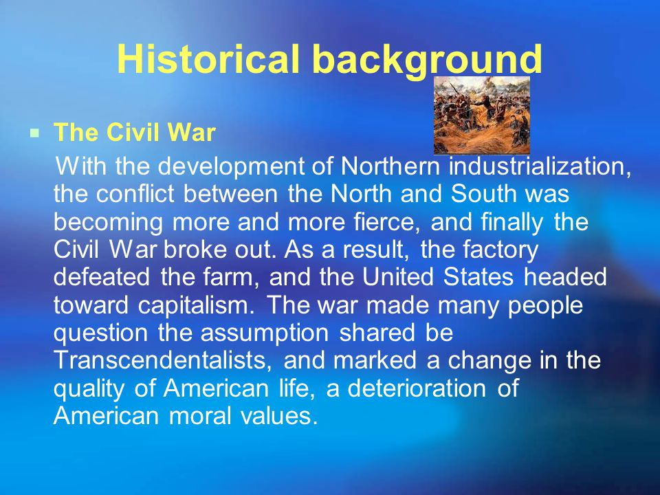 II.Post-war development  After the Civil War, commerce took the lead on the national economy.
