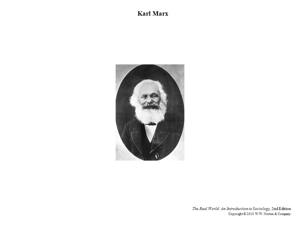 Karl Marx The Real World: An Introduction to Sociology, 2nd Edition Copyright © 2010 W.W.