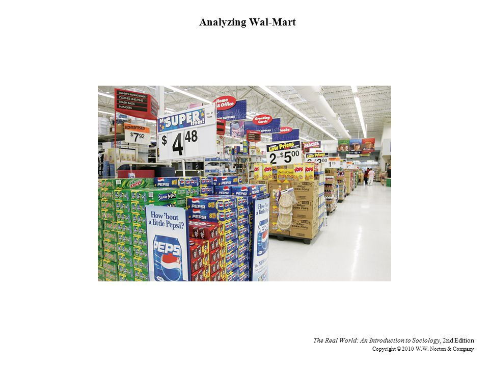 Analyzing Wal-Mart The Real World: An Introduction to Sociology, 2nd Edition Copyright © 2010 W.W.