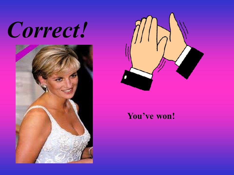 Correct! You've won!