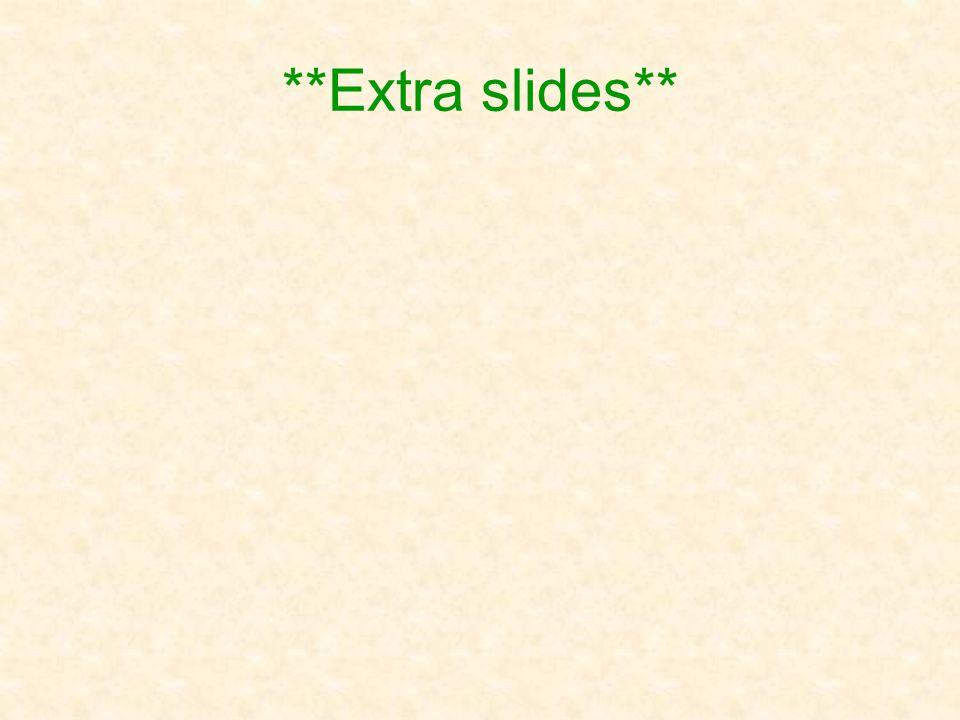 **Extra slides**