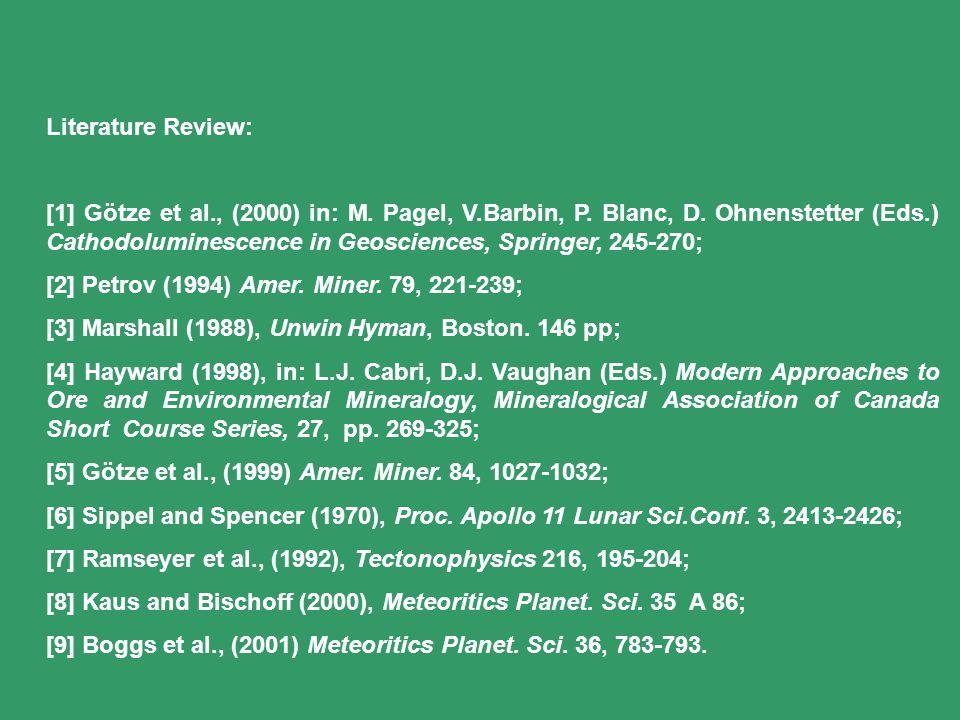 Literature Review: [1] Götze et al., (2000) in: M.