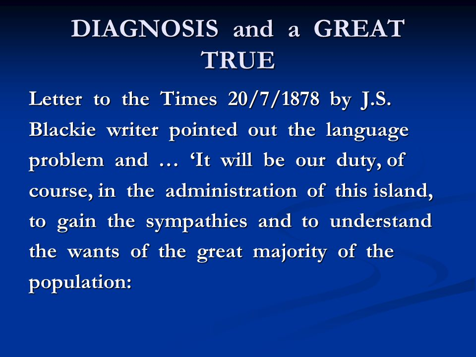 DIAGNOSIS and a GREAT TRUE Letter to the Times 20/7/1878 by J.S.