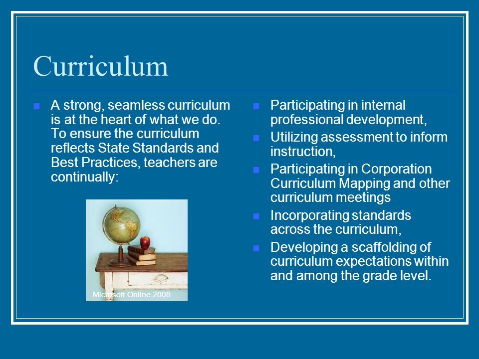 Curriculum A strong, seamless curriculum is at the heart of what we do.
