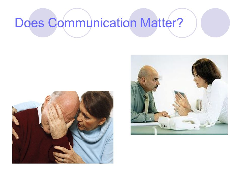 Does Communication Matter
