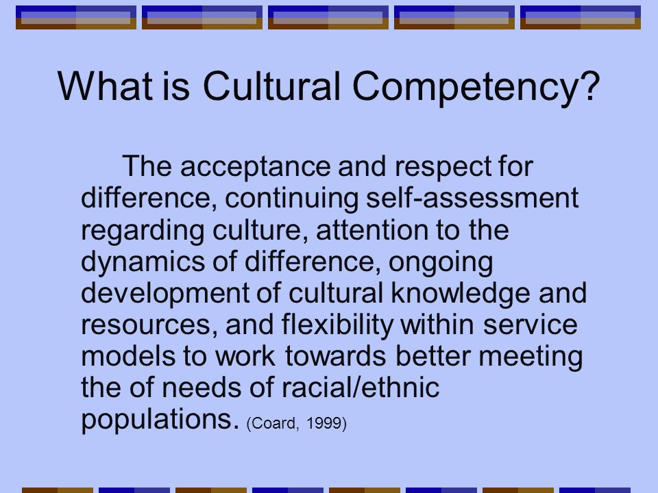 What is Cultural Competency.